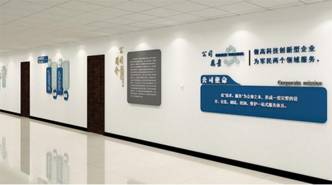 独特的企业文化墙设计,彰显企业风采