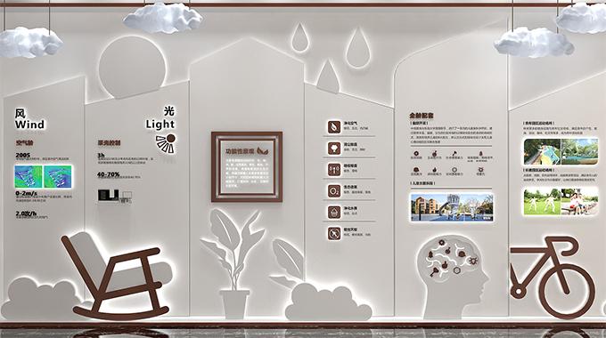 上海广告公司—企业文化墙跳跃在墙上的文化音