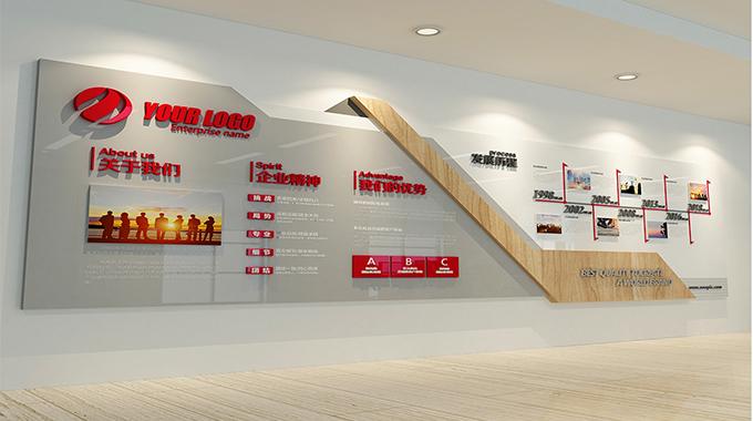 上海广告公司—企业文化墙建设带来的实际意义